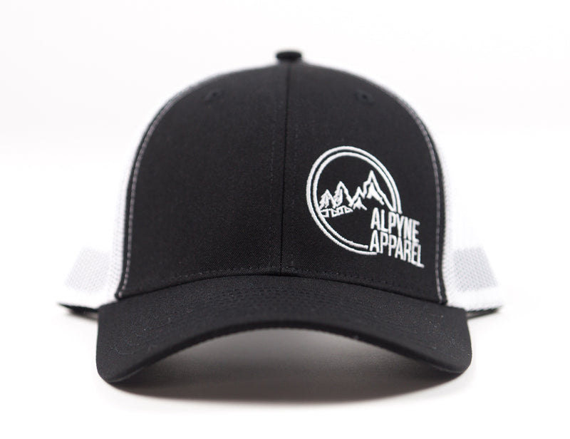 """Kootenays"" Curved Snapback (Black/White)"
