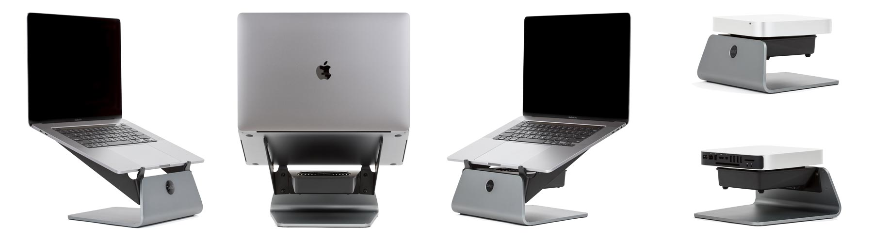SVALT Cooling Stand models S and S Pro with 16-inch MacBook Pro and model S Mini with Mac Mini