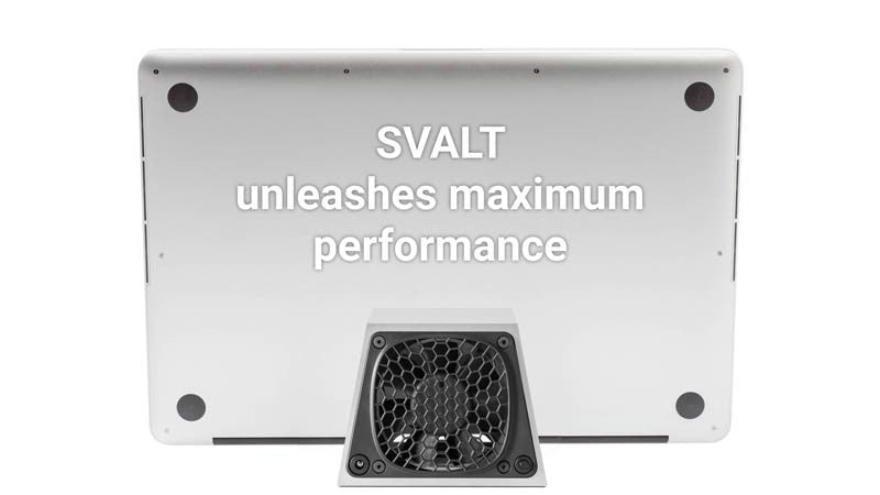 SVALT D2 Cooling Dock cooling airflow with MacBook Pro 15-inch Retina