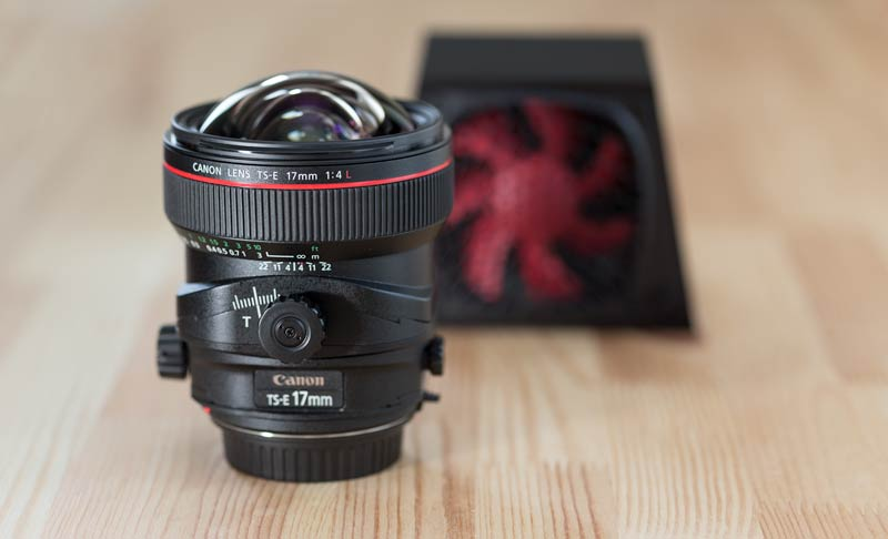 Black SVALT D and Canon 17/4L TSE tilt/shift lens