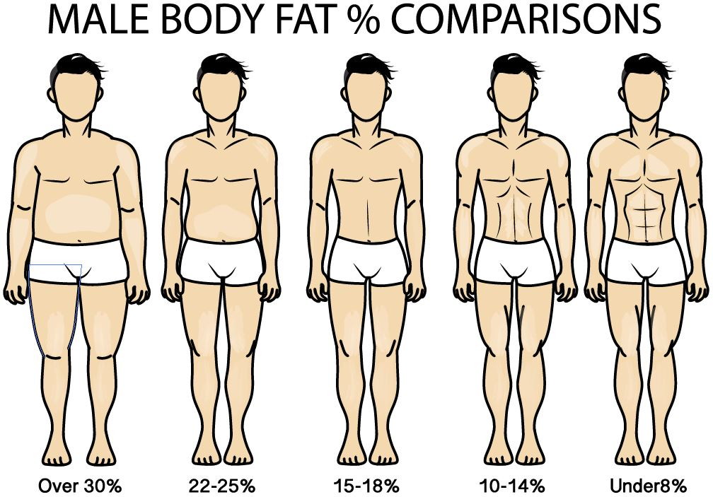 male body fat percentage chart