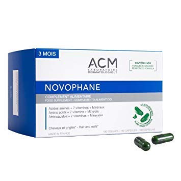 Novophane 180 Caps 3 Month Supply ACM Hair Loss Alopecia Hair and Nails Fragility Regrowth