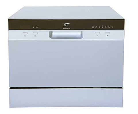 SPT SD-2224DS Countertop Dishwasher with Delay Start & LED, Silver
