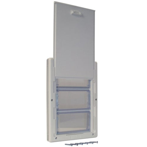 Ideal Ultra-Flex DraftStopper Pet Door with Telescoping Frame - Cream Extra Large