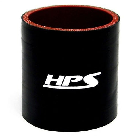 "HPS HTSC-425-L4-BLK Silicone High Temperature 4-ply Reinforced Straight Coupler Hose, 45 PSI Maximum Pressure, 4"" Length, 4-1/4"" ID, Black"