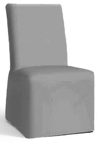 The Cotton Chair Cover Only Fits Pottery Barn PB Comfort Dining Chair. A Durable Slipcover Replacement (Armless Light Gray) Armless Light Gray