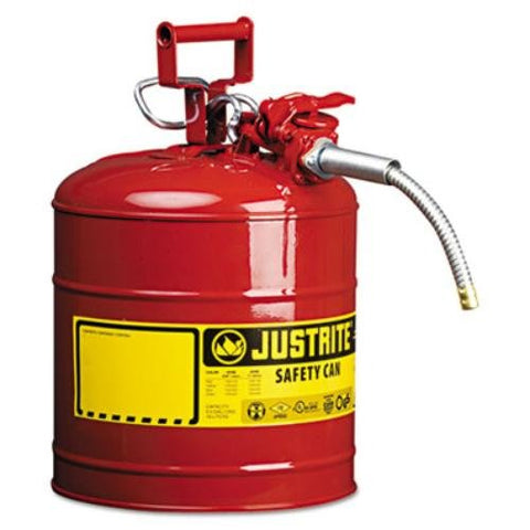 Justrite 5 GAL. Type II Safety CAN W/5/ (JUS-7250120)