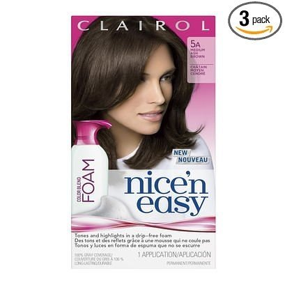 Nice N Easy Permanent Color, Medium Ash Brown 5A, 1 ct (Pack of 3)