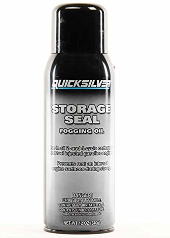 Quicksilver Mercury Mercruiser Boat Marine Storage Seal FOGGING Oil for All 2 & 4 Cycle Carburated & Fuel Injected Gas Engines Outboards Inboard & Sterndrives