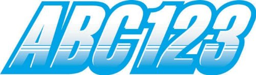 STIFFIE Techtron White/Sky Blue 3  Alpha-Numeric Registration Identification Numbers Stickers Decals for Boats & Personal Watercraft