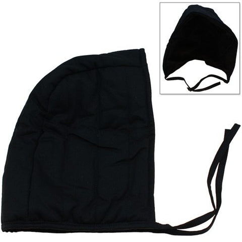 Cotton Padded Coif Arming Cap - Medieval Renaissance Under Armor Black