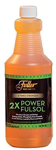 Fuller Brush 2X Power Fulsol Degreaser - Powerful Multi-Surface Degreaser Concentrate - All Purpose Oil, Grease & Grime Cleaner For Bike, Automotive, Grill, Bathroom & Kitchen 1 Fulsol 2X Bottle