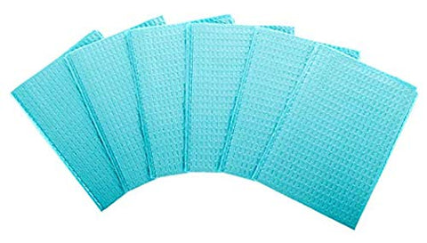 DENTAL BIBS SHEETS Thick 3 ply 13 x 17  50-PACK Blue Tattoo Supply
