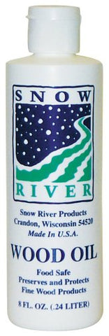 Snow River USA 7V03389 Wood Oil for all wood type cutting boards, 8 oz 1