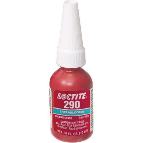 Loctite 29021 Green 290 Medium High-Strength Threadlocker, 300 Degree F Maximum Temperature, 10 mL Bottle