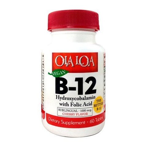 Ola Loa Products Sublingual Hydroxycobalamin B12, 60 Count by Ola Loa
