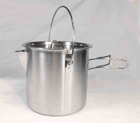 52 / 68 Oz Stainless Steel Camping Pot Cooking Kettle