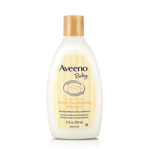 Aveeno Gentle Conditioning Baby Shampoo, 12 Ounce (Pack of 2)
