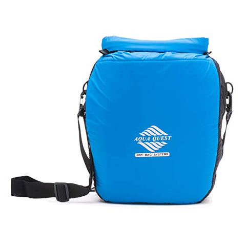 Aqua Quest Cool CAT Insulated Cooler Bag - 100    Waterproof Thermal Dry Bag 12L Padded Bag with Shoulder Strap, Roll Top Closure Blue