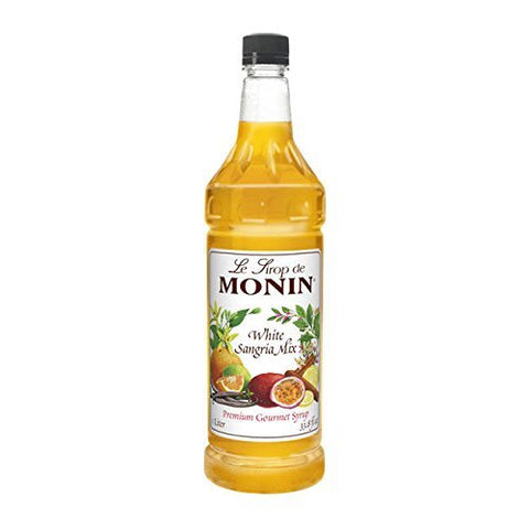 Monin Flavored Syrup, White Sangria Mix , 33.8-ounce Plastic Bottle (1 Liter)