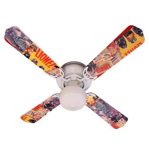 Ceiling Fan Designers Ceiling Fan, Toy Trains Lionel, 42