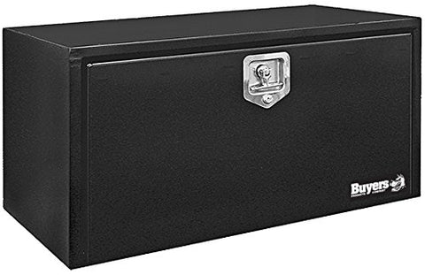 Buyers Products Black Steel Underbody Truck Box w/ T-Handle Latch (24x24x36 Inch) 24x24x36 inches