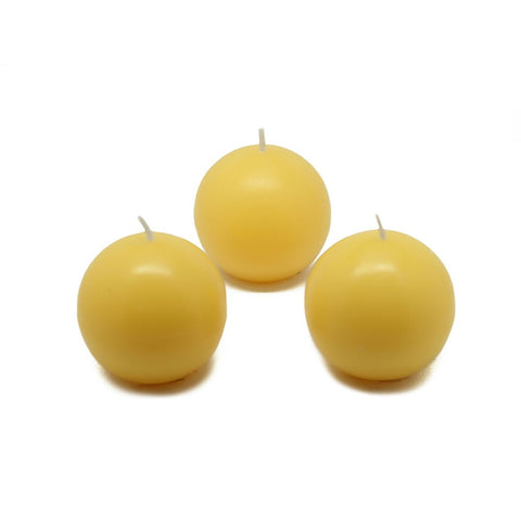 "Zest Candle CBC-201_8 96-Piece Citronella Ball Candle, 2"", Yellow"