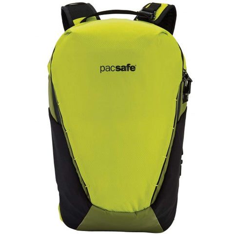 PacSafe Venturesafe X18 Anti-theft Adventure Backpack, Charcoal Casual Daypack Python Green