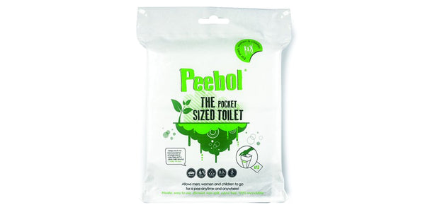 Peebol by SHEWEE - The Pocket Sized Toilet - Disposable Urinal Bag for Men, Women & Children 3 Pack