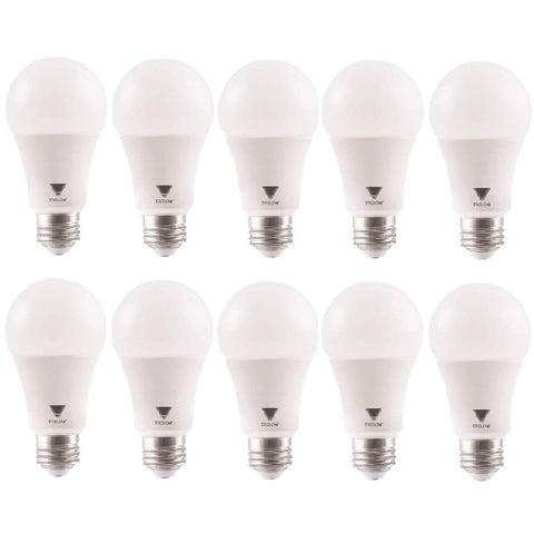 TriGlow T94445-10 (Pack of 10) 15-Watt (100W Equivalent) A19 LED DIMMABLE Bulb, 4100K (Cool White Color), 1600 Lumens and E26 Base, UL Listed and Energy Certified 4100K (Cool White) 10 Pack