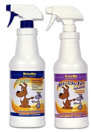 "Anti Icky Poo ""Unscented"" Odor & P-Bath Pre-Treater Combo Quarts"