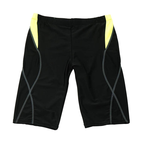 AIEOE Men Jammer Swimsuit Drawstring Swim Shorts Black US XS/Tag:L(Waist:24-28.7 )