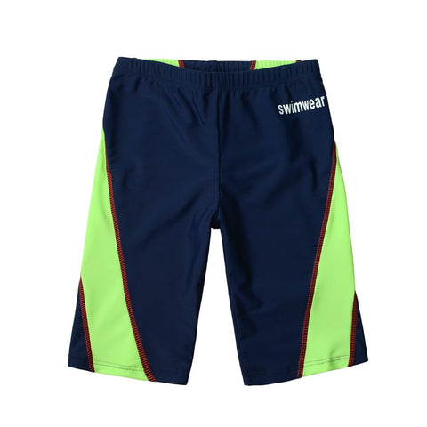 Kids Boys Quick Dry Sun Protection Compression Jammer Colorblock Swim Trunks 10-12 Years/weight:66.13-77.16 Ib Black and Green
