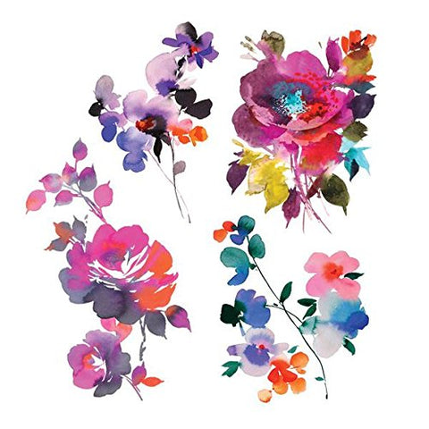 Tattly Temporary Tattoos In Bloom Set