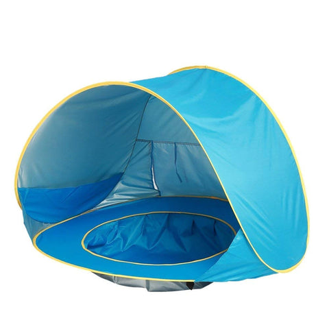 Baby Beach Tent Pop Up Portable Shade Pool UV Protection Sun Shelter for Infant (Blue) Blue