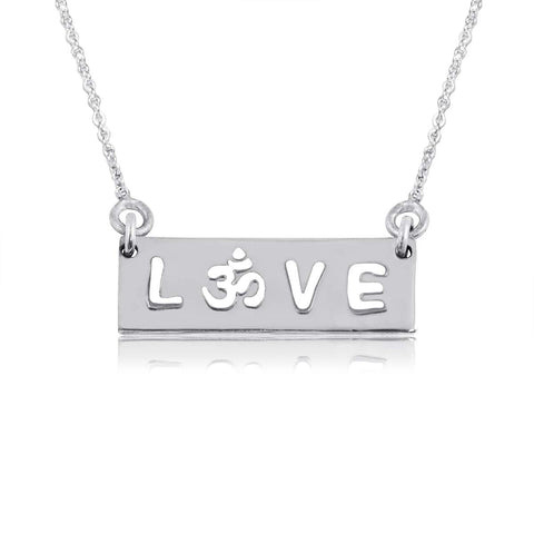 Dayna Designs .925 Sterling Silver Inspirational Bar Necklaces (Love, Believe, Feminist, BLM, Build Bridges, to The Moon and Back, Nasty Woman, You are My Sunshine) Love