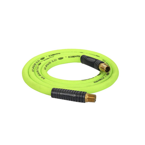 Flexzilla Swivel Whip Air Hose, 1/2 in. x 8 ft. (1/2 in. MNPT Swivel x 1/2 in. MNPT Ends), Heavy Duty, Lightweight, Hybrid, ZillaGreen - HFZ1208YW4S 1/2  (inch) x 8' (feet) 1/2  NPT Ends