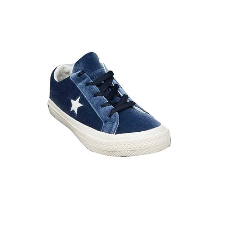 Converse Kids One Star Ox Navy/Navy/Egret Skateboarding Shoes 660354C US 2