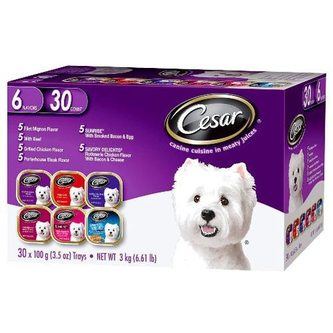 Cesar Canine Cuisine in Meaty Juices Variety Pack 30 count 6.61 lbs