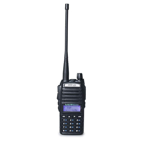 HESENATE HT-UV82 8w Tri-Power 8/4/1W Dual PTT Dual Band Two-Way Radio VHF 2M UHF 70cm Amateur Hand held Transceiver (HAM)