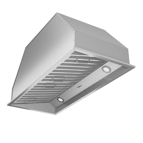 Ancona AN-1313 Chef Series Built-in 34  Ducted 600 CFM Insert Range Hood with LED Lights, Silver