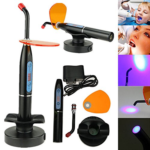 BONEW 5W Black Wireless Cordless LED Cure Lamp Light 1200-2000mw for Lab Use US WAREHOUSE