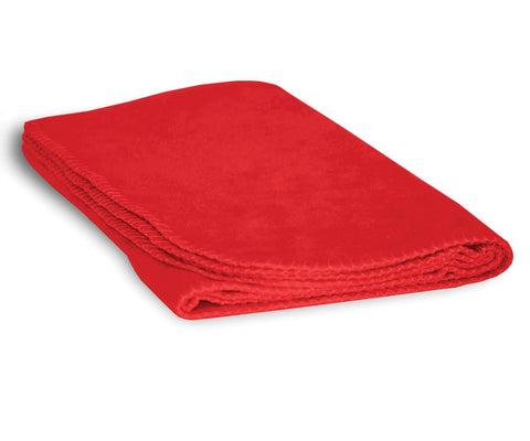 Luxurious Cozy Premium Super Soft 30 x 40 Fleece Throw Baby Blanket for Strollers, Car Seats, Kids Bed & Pets (Poppy Red) Poppy Red