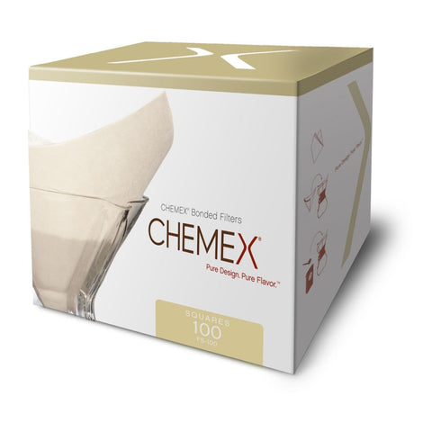 Chemex Classic Coffee Filters, Squares, Set of 200 - Exclusive Packaging