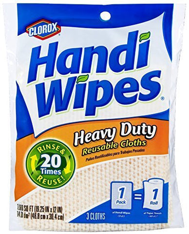 Clorox Handi Wipes Heavy Duty Reusable Cloths, 3 Count (Pack of 4) Colors May Vary by Clorox