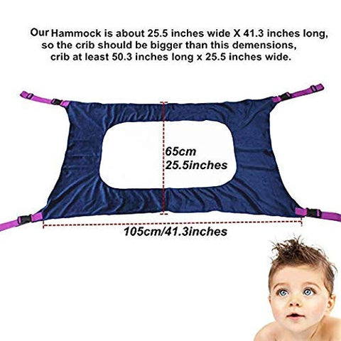 COOSIC Newborn Baby Hammock for Crib, Strong Material Double-Layer Breathable Supportive Safe and Strong Durable Bassinet Hammock Bed Infant