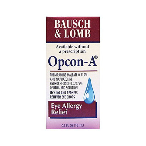 Bausch & Lomb Opcon-A Eye Allergy Relief.5 oz.