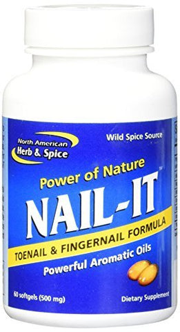 North American Herb and Spice Nail-It Gelcaps, 60 Count by North American Herb & Spice