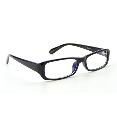 Cyxus Blue Light Filter Glasses, Anti Eyestrain Headache, Rectangular Black Frame
