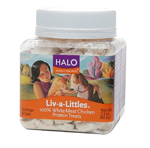 Halo Liv-a-Littles Freeze Dried Chicken Treats 2.2oz each (2-pack)